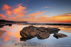 Bungan Reflections (renatonovi1) Tags: reflections sunrise beach sea ocean bungabeach sydney nsw australia seascape landscape