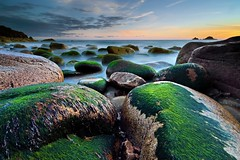 Colourful Cornwall (midlander1231) Tags: coast beach cornwall porthnanven colour rocks coastline britain britishisles nature