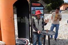 60070658 (wolfgangkaehler) Tags: 2016 southamerica southamerican ecuador ecuadorian quito quitoecuador ecuadorhighlands quitsatoequatormonument cayambe equator equatormarker man explaining lecture lecturer lecturing