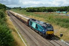 68008. Hay Lane. 29-07-2016 (*Steve King*) Tags: 68008 hay lane drs class 68 swindon 1z54 northern belle direct rail services