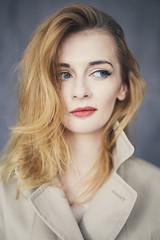 Chujowa Pani Domu (aseptyczny) Tags: red portrait woman beautiful beauty face hair eyes polish lips blond lipstick chujowapanidomu magdalenakostyszyn