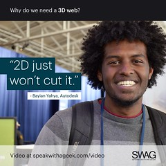2D just won't cut it. (SWAG - Speak With A Geek) Tags: 3d technology tech quote meme swag threedimensional 3dweb speakwithageek autodeskforgedevcon 3dwebfest