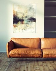 leather couch | livi (seewhatyoumean) Tags: leather couch | living room comfortable sofa beautiful natural light modern art hardwood floors simple home clean interiors with style stylish interior design decor inspiration
