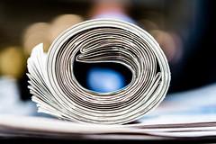 Today's News (Sean Batten) Tags: eveningstandard macro london england unitedkingdom gb nikon d800 60mm newspaper bokeh city urban paper
