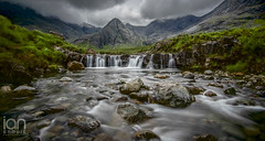 Fairy Pools (ianbrodie1) Tags: blackcullins fairypools waterfall scottish highland scotland landscape fairy pools isle of skye water longexposure rocks mountains mountain grass boulder river cloud grey