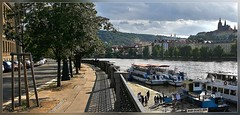 Prague view over the river (T.S.Photo (Teodor Sirbu)) Tags: praha praga prague prag river boats road shaddows tamron 1735 17mm canon xti czech europe