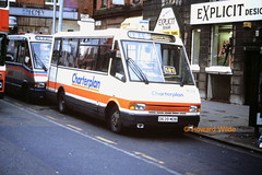 G M Buses (Charterplan) 1639 (D639 MDB) (SelmerOrSelnec) Tags: gmbuses charterplan mcw metrorider d639mdb manchester stevensonsquare scud minibus bus