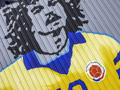 Carlos Alberto Valderrama Palacio Wall Art (Mabry Campbell) Tags: usa sports sport wall photography photo colorful texas photographer unitedstates faces image 10 painted famous fineart july houston wallart hasselblad f90 photograph 100 fineartphotography number10 80mm 2016 1stward soccerplayer commercialphotography harriscounty firstward hc80 sec mabrycampbell h5d50c july72016 20160707campbellb0000331