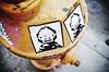 8-bit (Eric Flexyourhead) Tags: seattle wa washington usa capitolhill 12thavenue city urban detail fragment street streetfragment hydrant firehydrant yellow art graffiti sticker streetart 8bit vignette shallowdepthoffield bokeh ricohgr