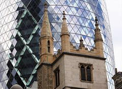 St Andrew Undershaft (DncnH) Tags: city reflection london church glass architecture gherkin cityoflondon standrew standrewundershaft ec3