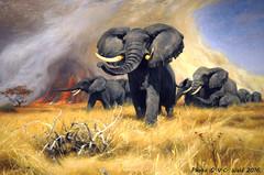 Elephants (detail), Wilhelm Kuhnert (V. C. Wald) Tags: elephants jacksonhole grandtetonnationalpark jacksonwyoming nationalmuseumofwildlifeart wilhelmkuhnert