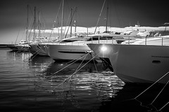 Spotlight on San Remo (Paul Griffiths Photos) Tags: ifttt 500px sanremo italy italia san remo water yachts boats mono monochrome marina