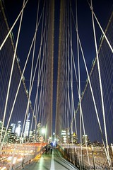 Summer Night on the Brooklyn Bridge (Ed.Stockard) Tags: nyc newyorkcity brooklynbridge manhattan bridge night lights freedomtower eastriver longexposure cable history america city