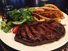 Petit Poulet - ENTRECTE STEAK FRITES (12 oz. Top Sirloin, Caramelized Shallot Butter, Frtes) (willy cheesesteak) Tags: food ny nyc midtown midtowneast koreatown koreatownny koreatownnyc newyork newyorkcity steak steakfrites entrecote
