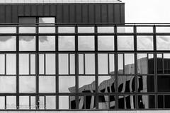 Basel (Floramon) Tags: basel reflexion gebude house architektur architecture bw sw