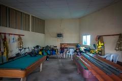 Inside the bomberos auditorium.