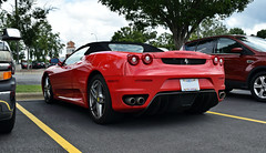 Ferrari F430 Spider (Nicholas Normile) Tags: red rosso ferrari f430 spider cary nc lowes home improvement car spotting carspotting