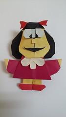 Mafalda multipieza (emulando con todos mis respetos a Halle) (Graciela Vicente) Tags: mafalda origami papiroflexia multipieza modular