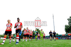 SPORTS: PSV WOMEN v KRC GENK WOMEN | LUC NILIS CUP in ZONHOVEN, Belgium. Photo by Thomas BAKKER FotoTB.nl 2016 (Fototb.nl) Tags: soccer weatherpitchconditions poorroughpitchgrass portrait fulllength stadium stadiuminsideview zonhoven flemmings belgium hol