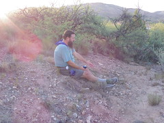 Chad on the hill at sunset (EllenJo) Tags: pentaxqs1 pentax july27 2016 ellenjo ellenjoroberts