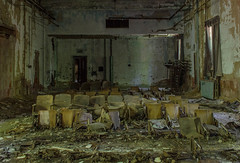 North Brother Island Auditorium (FWDPhotography) Tags: abandoned decay derelict urbex urbanexploration urbandecay explore nikon photographer photo photography d5100 island hospital auditorium seats chairs destroyed old decaying fallingapart decrepit
