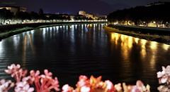 Notturno sul fiume Adige (Clamos) Tags: fiume river adige notte night riflessi reflexes colori colors
