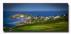 The Flag (jeremy willcocks) Tags: burghisland devon southhams uk sea beach golfcourse flag landscape colour sun sunny jeremywillcocks wwwsouthwestscenesmeuk fujixt1 xf50140