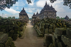 Path of the Ancients (ben_leash) Tags: blue a77 sony indonesia java southeastasia prambanan candiplaosan buddhist temple old anicent archeology monument ruin ruins