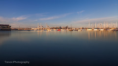 City view from Williamstown (trevorjphotography) Tags: williamstown melbourne portphillipbay longexposure ndfilter neutraldensity le waterscape seascape harbour marina yachts boats city cbd skyline skyscrapers buildings water smoothwater blurrywater canoneos5dmarkii ef24105mmf4lisusm wideanglelens cityscape blue sky fotga calm scenic picturesque tranquil