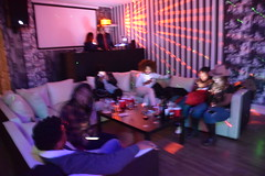 DSC_3812  Sign of the times: Five people all texting at a live social event and NO one speaking to each other (photographer695) Tags: msindos from south africa birthday party october 2 2016 walays club stratford london sign times five people all texting live social event no one speaking each other