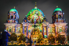 Berlin Cathedral @ Berlin Leuchtet (don_andy) Tags: berlin cathedral berlinerdom church kirche berlincathedral architecture architektur lights paintingwithlight color colorful farben night nacht