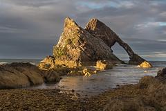 Last Light on Bow Fiddle (Geoff France) Tags: moray moraycoast coast shore sea seaside beach shoreline scotland landscape seascape scottishlandscape tide rock