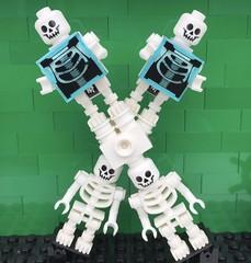 X (Laurene J.) Tags: lego bricksbythebay bbtb2016 minifigurealphabet minifigure minifigs legoalphabet alphabet pilobolusalphabet pilobolus lettering bbtb 2016 bricksofcharacter x xray bones skeleton