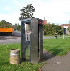 KX series telephone box (Phil_Parker) Tags: telephone kiosk bt phone box stainless steel