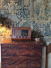 Radio and tapestry (genibee) Tags: chasteltonhouse radio tapestry nationaltrust dresser bureau