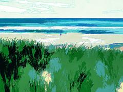 walking on the beach (j.p.yef) Tags: peterfey jpyef yef denmark dnemark europe beach strand digitalart people landscape