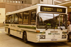 SMT 65 N65CSC (bobbyblack51) Tags: smt 65 n65csc mercedes benz 0405 optare prisma diamond service st andrews bus station edinburgh 1995