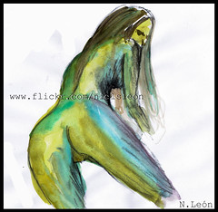 Girl pose ( Niels Len  Ilustracin - sketch/Portafol) Tags: draw drawing colores color dibujo chile santiago art arte acuarela watercolor acrlico ilustration ilustracion work urban urbano city ciudad animales animals