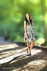 Walk in the woods (Neil Adams Photography (Wirral)) Tags: young model stunning evening bokeh sunny sunlight sidelight backlight backlighting canon