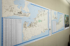 Maps of Naval Station Guantanamo Bay, Cuba, line the walls of the recently stood up Emergency Operations Center (EOC) at Naval Facilities Engineering Command (NAVFAC) Southeast at Naval Air Station Jacksonville, Fla. (Official U.S. Navy Imagery) Tags: hurricanematthew storm gtmo meteorology weather shelter evacuation navy usnavy jacksonville fla unitedstates