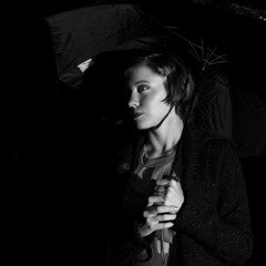 Into the Shadows (Art Sarnese Photography) Tags: nikon nikond3300 d3300 newjersey nj portrait blackandwhite rain rainy night yongnuo afsdxnikkor35mmf18g 35mm