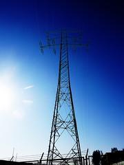 electricity (Darek Drapala) Tags: blue urban landscape industrial poland polska panasonic electricity skyskape panasonicg5