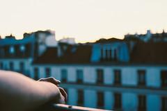 Océan Rouge (Louis Dazy) Tags: light sunset sun paris film architecture analog sunrise 35mm photography nikon arms 100 f2 135 pushed ektar
