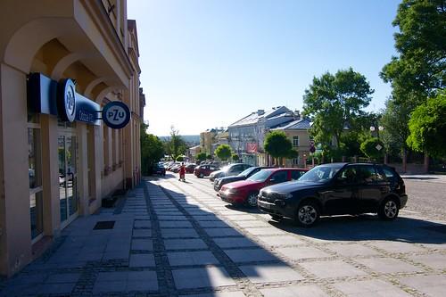 Ulica Lubelska w Chełmie spod oddziału PZU (Lubelska 11)