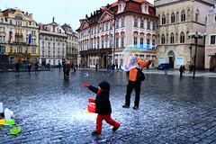 In Prague (Hoiling.C) Tags: children europe prague bubble traveling