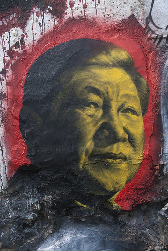 Xi Jinping, painted portrait, From FlickrPhotos
