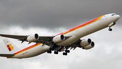 Stormy takeoff (cumulogranitus) Tags: airbus iberia lemd a340642x ecleu