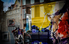 (mhmmtsvn) Tags: street city reflection art colors architecture jaune design nikon streetphotography reflet alsace lightroom mulhouse pantone phototech d7000 villedemulhouse instamulhouse