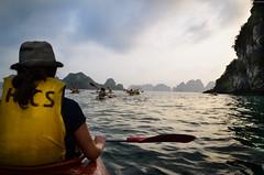 Kayak (afcastano) Tags: sunset kayak vietnam halongbay