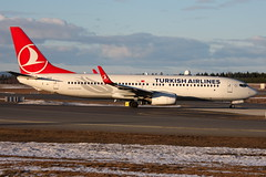 Turkish TC-JVD, OSL ENGM Gardermoen (Inger Bjrndal Foss) Tags: norway boeing turkish osl gardermoen 737 engm tcjvd
